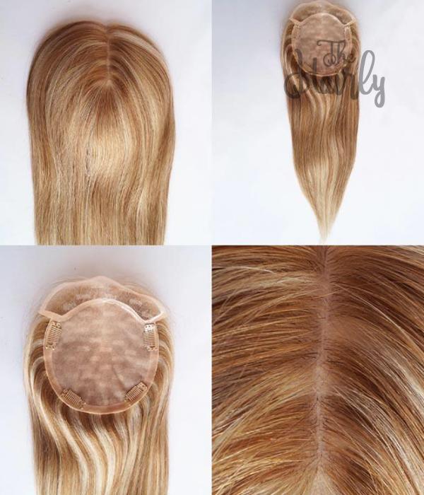 Karina tupet damski naturalny blond z pasemkami 36-56cm - zagęszczenie włosów clip in