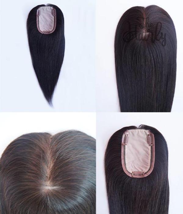 Karina tupet / topper naturalny czarny 31cm - zagęszczenie włosów clip in