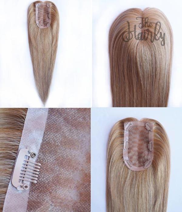 Nina tupet naturalny słomiany blond balayage 36cm - zagęszczenie włosów clip in
