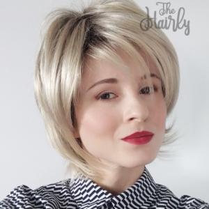 Peruka syntetyczna blond krótka premium