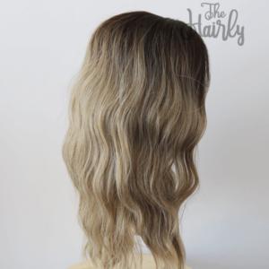 peruka syntetyczna blond z odrostem