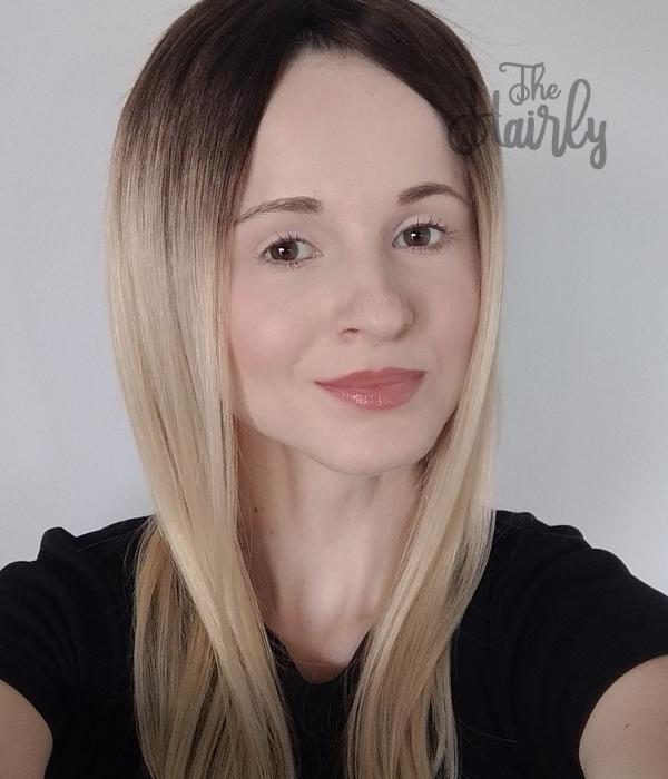 Peruka blond z odrostem prosta naturalna