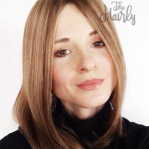 Aura tupet naturalny ciemny blond balayage 40cm - zagęszczenie włosów clip in