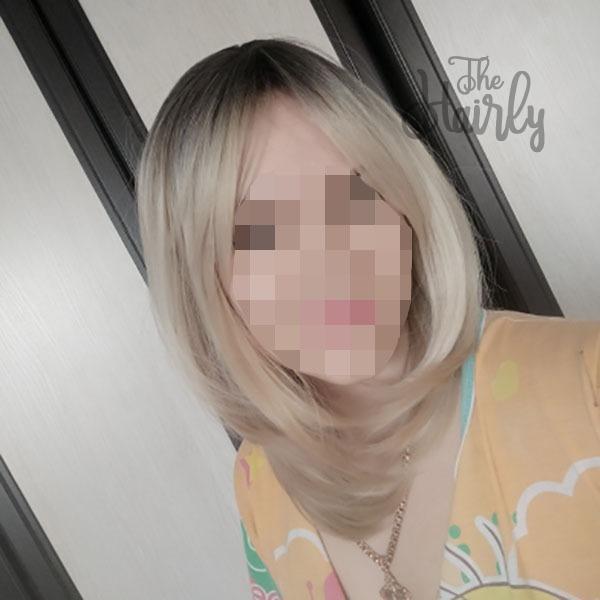 klientka peruka blond