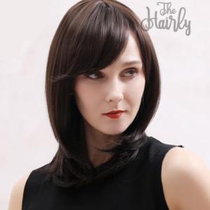 Peruka 50% włos naturalny, 50% włos syntetyczny, głęboki brąz