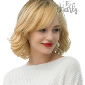 Peruka 50% włos naturalny, 50% włos syntetyczny, blond bob