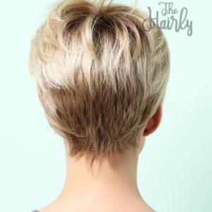 Peruka 50% włos naturalny, 50% włos syntetyczny, blond z odrostem