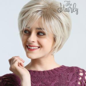 Peruka syntetyczna Zimny Blond Cieniowana Grzywka