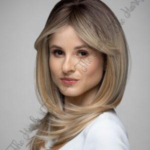 Peruka syntetyczna Blond z Odrostem Cieniowana Grzywka