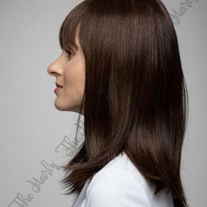 Peruka 50% włos naturalny, 50% włos syntetyczny, czekoladowy brąz