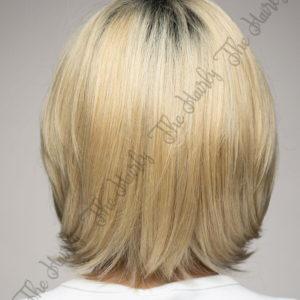 Peruka 50% włos naturalny, 50% włos syntetyczny, blond bob z odrostem