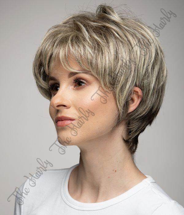 mieszana peruka ciepły blond balayage z odrostem