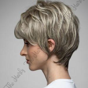 Peruka 50% włos naturalny, 50% włos syntetyczny, chłodny blond balayage z odrostem