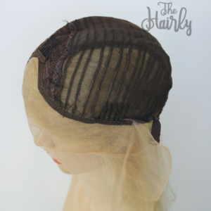 Peruka syntetyczna Front Lace platynowy blond proste