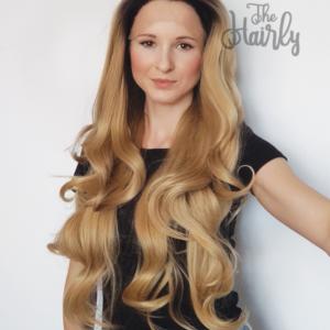 Peruka syntetyczna Front Lace Blond z odrostem falowane