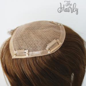 Aura Tupet damski naturalny jasny brąz 40cm - zagęszczenie włosów clip in