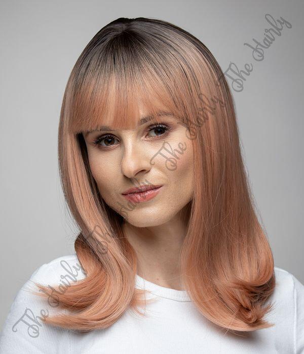Peruka syntetyczna różowy blond