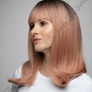 Peruka syntetyczna różowy blond z odrostem nowa kolekcja
