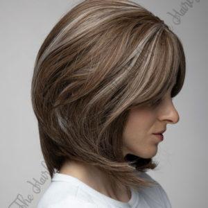 syntetyczne włosy brąz balejaż bob