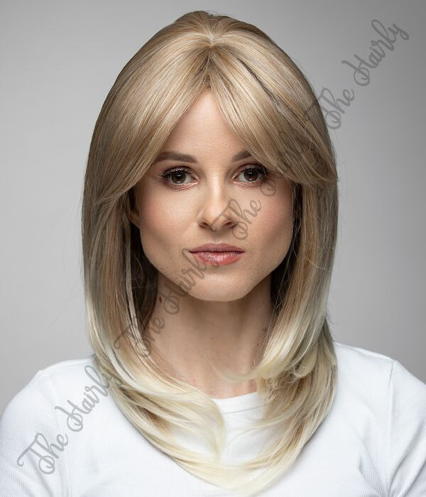 peruka blond delikatnie wygięta