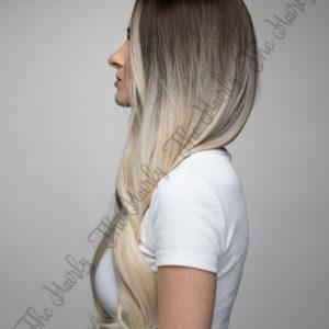 Peruka syntetyczna popielaty blond ombre brąz fale nowa kolekcja