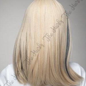 Peruka syntetyczna Blond z niebieskimi pasemkami nowa kolekcja