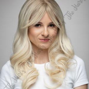 Peruka syntetyczna popielaty blond z odrostem