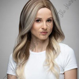 Peruka syntetyczna blond balayage