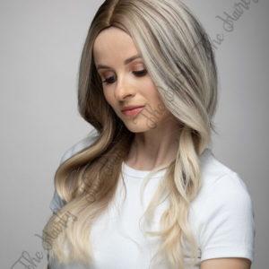 Peruka syntetyczna blond balayage fale nowa kolekcja