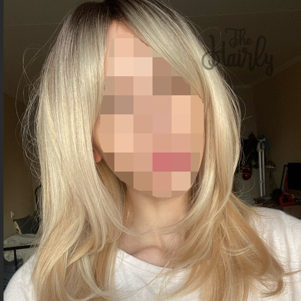 peruka naturalna blond z odrostem