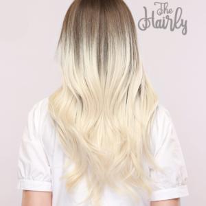 peruka syntetyczna braz ombre blond