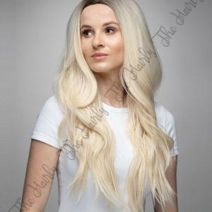 Peruka syntetyczna blond platyna