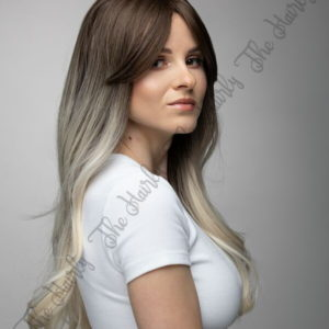 syntetyczna peruka ombre brąz