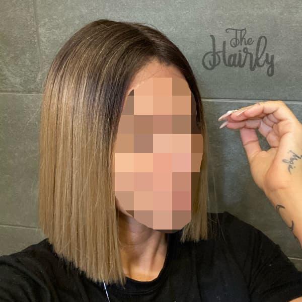 Peruka z włosów syntetycznych kanekalon