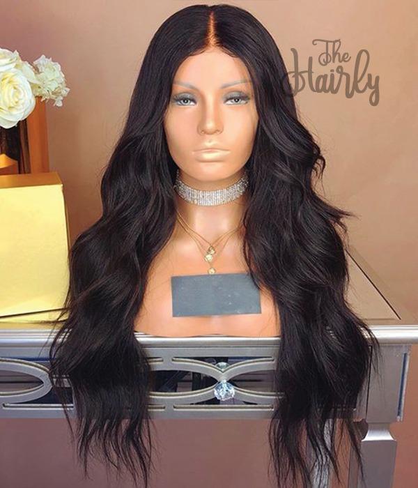 peruka naturalna front lace braz