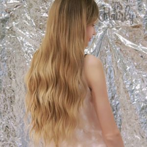 peruka naturalna blond ombre