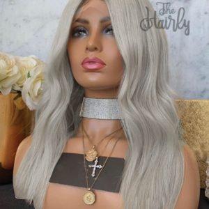 peruka blond front lace