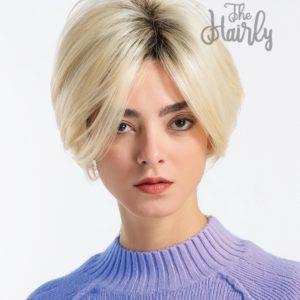 peruka mieszana blond bob