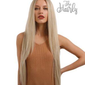 peruka syntetyczna front lace platynowy blond