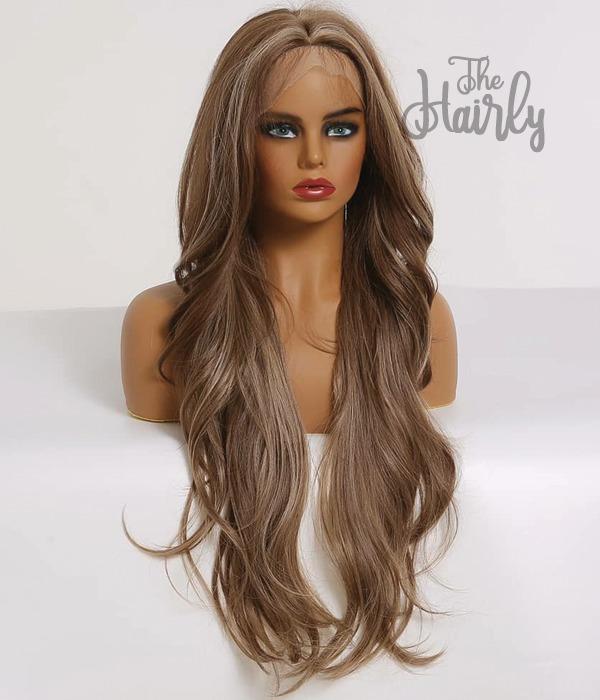 peruka syntetyczna front lace blond