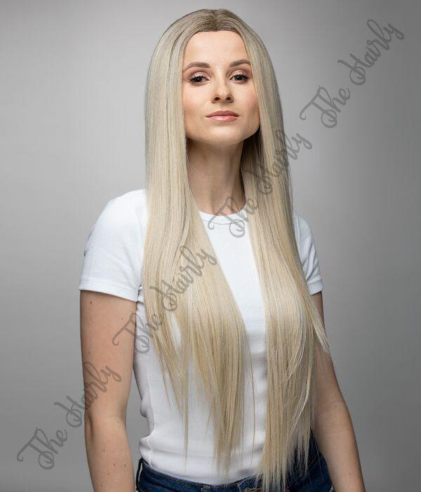 front lace blond długa prosta