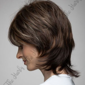 Peruka 50% włos naturalny, 50% włos syntetyczny, brąz balayage