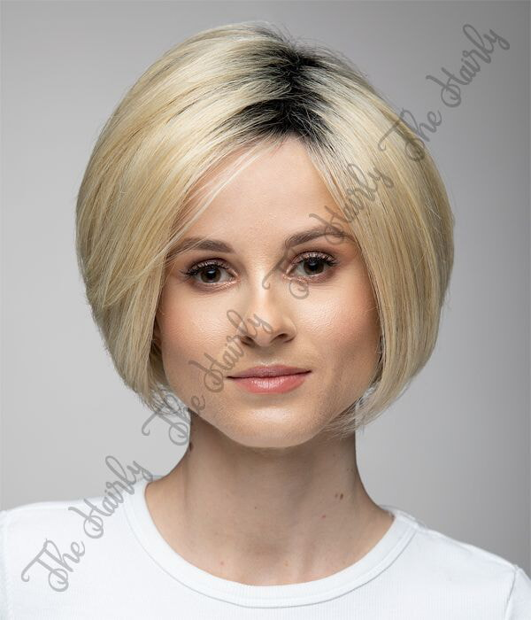 krótki blond bob z odrostem