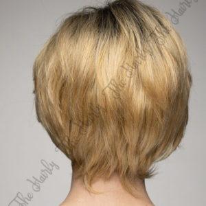 Peruka 50% włos naturalny, 50% włos syntetyczny, złoty blond z odrostem