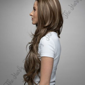 Peruka syntetyczna Front Lace ciemny blond balayage