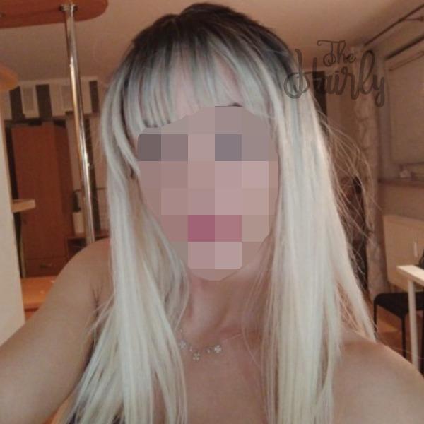 peruka syntetyczna blond z grzywką
