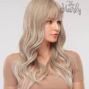 peruka syntetyczna popielaty blond