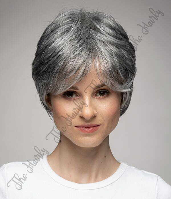 mieszana peruka naturalny siwy