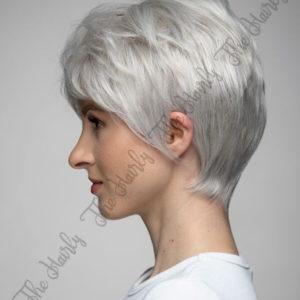 Peruka 50% włos naturalny, 50% włos syntetyczny, platynowy blond