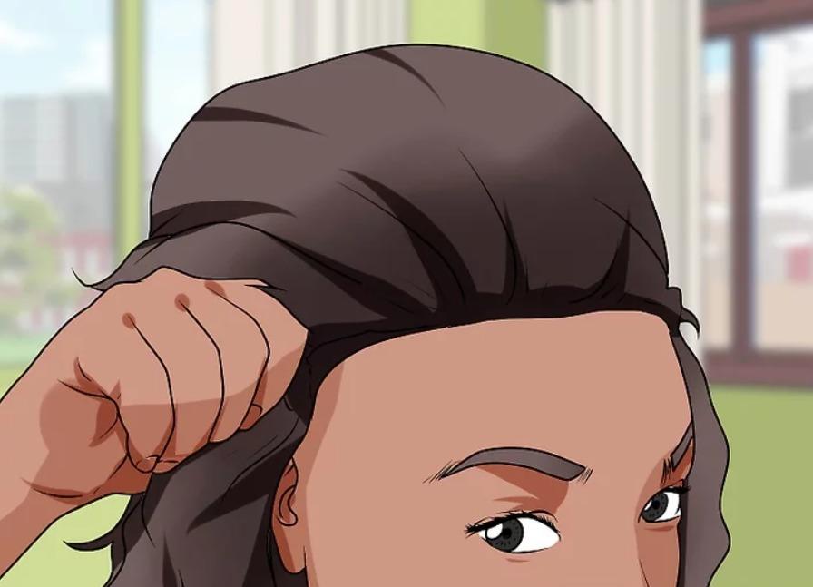 załóż perukę front lace